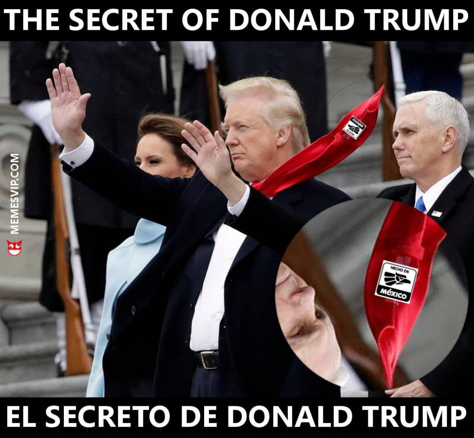 Meme el secreto de Donald Trump