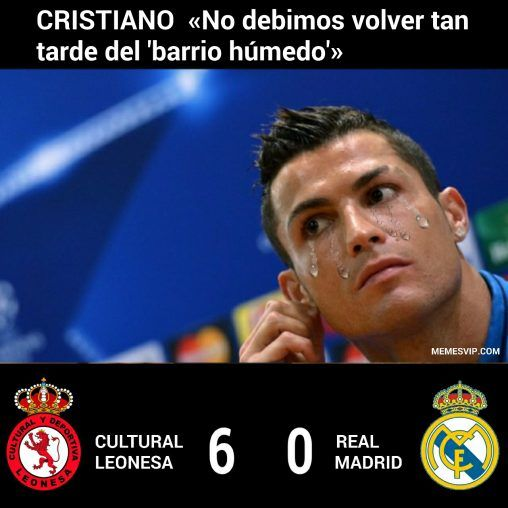 Meme Cristiano Real Madrid