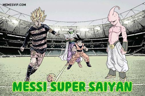 Meme Messi Dragon Ball