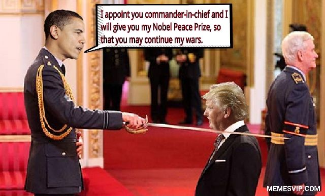 Trump Commander in Chief meme