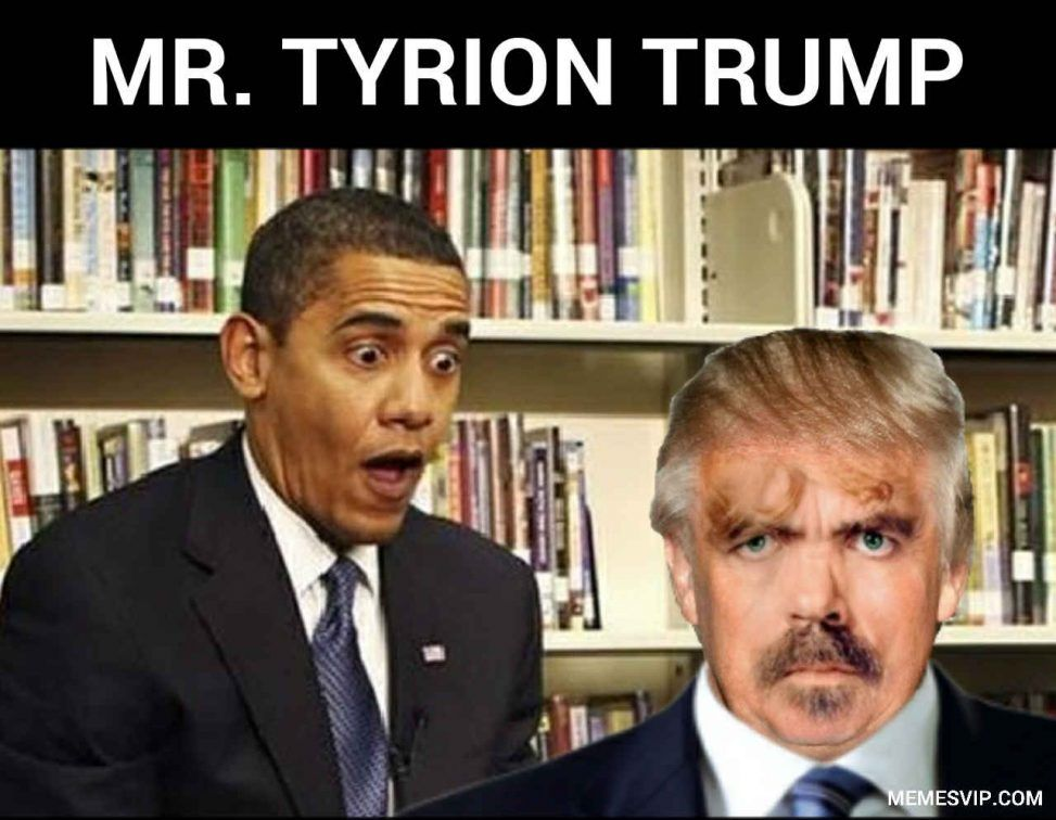 Trump Obama meeting meme
