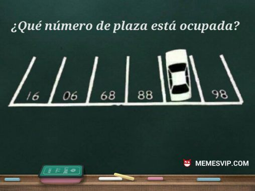 Meme acertijo plaza parking