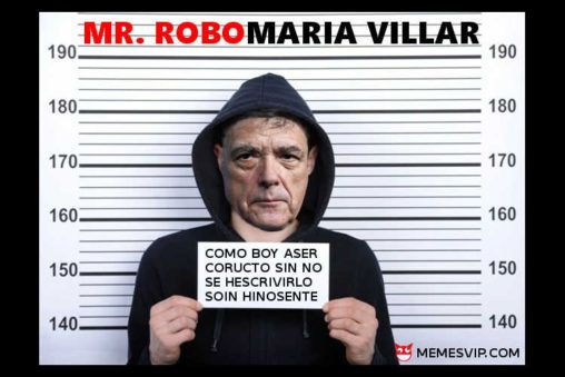 Meme Ángel María Villar fan de Mr. Robot