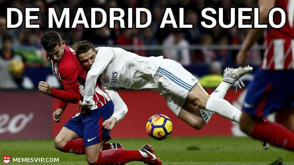 Meme de Madrid al suelo Atleti Real Madrid