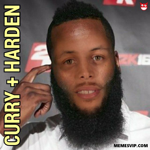 Meme el barbitas o la suma de Stephen Curry y James Harden