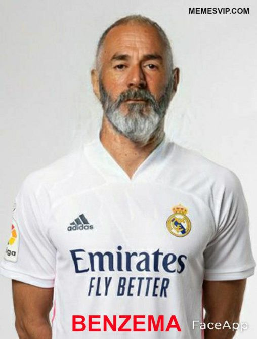 Meme Real Madrid anciano Benzema