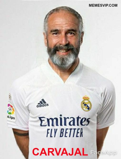 Meme Real Madrid anciano Carvajal