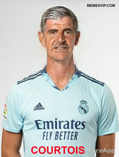 Meme Real Madrid anciano Courtois